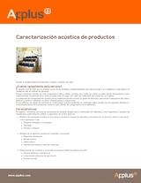 Caracterización acústica de productos