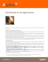 Certificación A+ de cajas fuertes