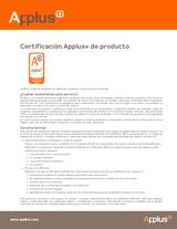 Certificación Applus+ de producto