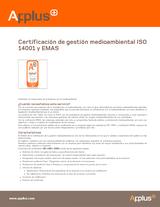 Certificación de gestión medioambiental ISO 14001 y EMAS