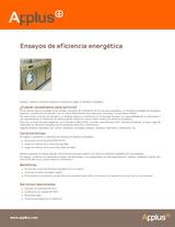 Ensayos de eficiencia energética