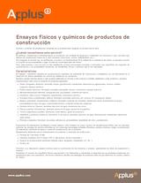 Ensayos físicos y químicos de productos de construcción