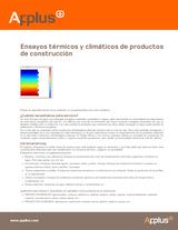 Ensayos térmicos y climáticos de productos de construcción