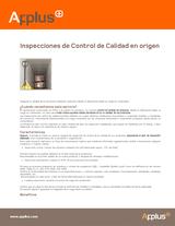 Inspecciones de control de calidad en origen