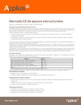 Marcado CE de apoyos estructurales
