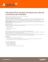 Marcado CE de equipos de detección, alarma y extinción de incendios