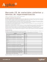 Marcado CE de materiales aislantes y láminas de impermeabilización