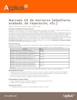 Marcado CE de morteros (albañilería, acabado y reparación)