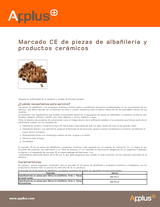 Marcado CE de piezas de albañilería y productos cerámicos
