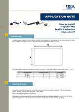 AN013 Matrix Loop Installation English