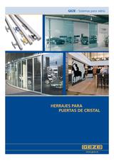 Herrajes para puertas de cristal