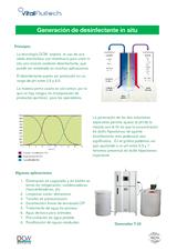 Generador de desinfectante para aguas