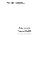 Reglas Generales Programa GlobalEPD 2016