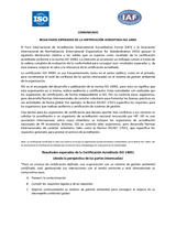 Resultados Esperados ISO14001 ISO-IAF
