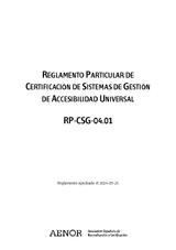 Reglamento Particular de Certificación