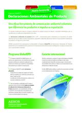Folleto informativo Declaraciones ambientales de Producto