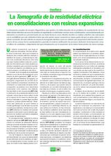 La Tomografía de la resistividad eléctrica en consolidaciones con resinas expansivas