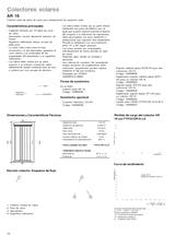 Colector solar tubos de vacios ar16 cat logo de baxi for Catalogo roca calefaccion