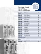 16 Distributed Control I-O System ADAM-8000 Series