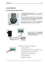 Manual programmer D-101