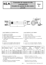 Generador de espuma de alta contrapresión K
