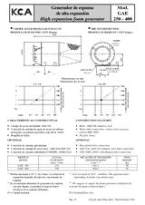 Generador de espuma de alta expansión GAE 250-400