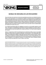 Modelo de descarga de rociadores