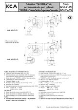 Monitor Kobra de accionamiento por volante KM-V-3X y KM-2V-3X