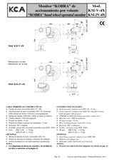 Monitor Kobra de accionamiento por volante KM-V-4X y KM-2V-4X