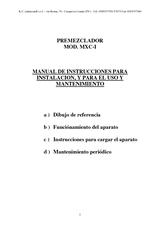 Premezclador MXC-I