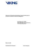 Selección de rociadores automáticos contra incendios para la protección de salas de resonancia magnética