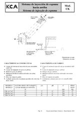 Sistema de inyección de espuma hacia arriba CK
