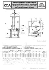 Sistema proporcionador a presion vertical MXC-I 1000-2000