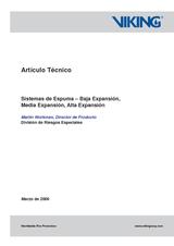 Sistemas de espuma - Baja expansión media expansión alta expansión