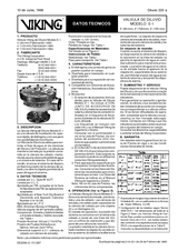 Válvula de diluvio modelo E-1 80-100-150 mm