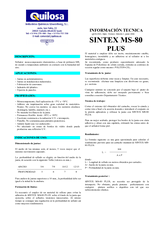 Sintex MS-80 Plus