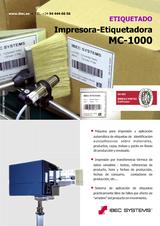 Etiquetadora de cajas y packs MC-1000