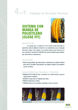 Reparación interior de tuberías. Sistema de manga de polietileno (CLOSE FIT)