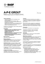 A-P-E® Grout