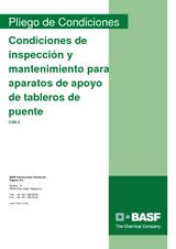 Condiciones de inspección y mantenimiento para aparatos de apoyo de tableros de puente