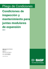 Condiciones de inspección y mantenimiento para juntas modulares de expansión