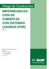 Impermeabilización de cubiertas con sistemas líquidos (PUR)