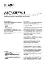 Juntas de PVC-E