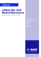 Línea del AVE Madrid - Barcelona