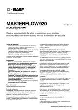 Masterflow 920