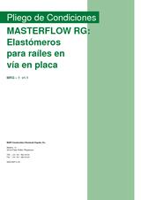 Masterflow RG - Elastómeros para raíles en vía en placa