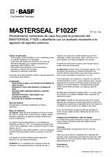 Masterseal F1022 F
