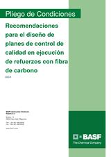 Recomendaciones para el diseño de planes de control de calidad en ejecución de refuerzos con fibra de carbono