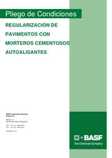 Regularización de pavimentos con morteros cementosos autoalisantes