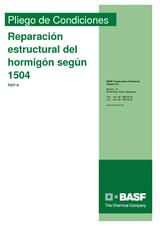 Reparación estructural del hormigón según 1504